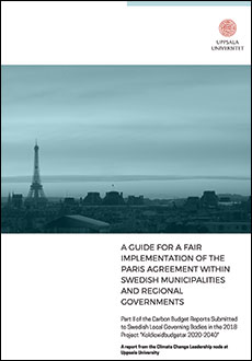 A guide for a fair implementation of the Paris agreement within Swedish municipalities and regional goverments
