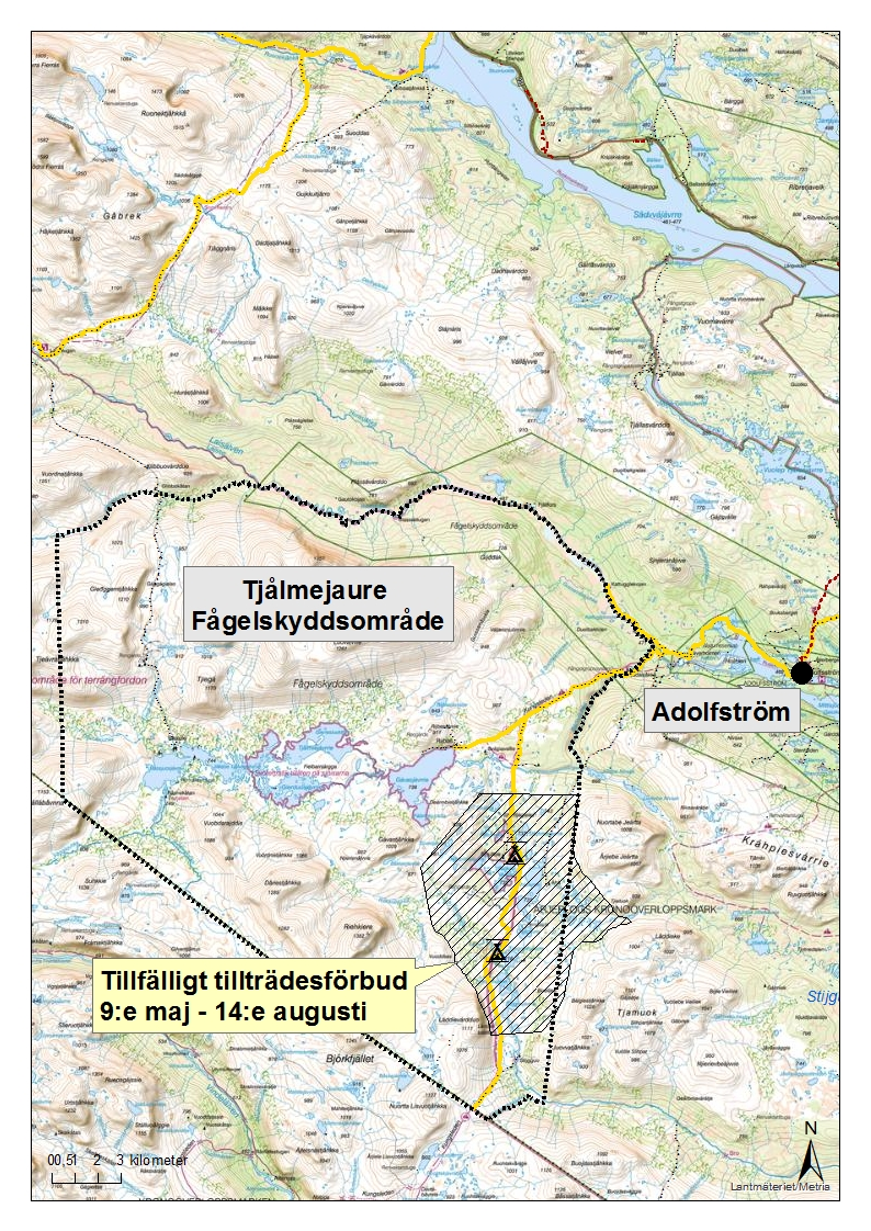 Adolfstrom County Boundary The King S Trail Norrbottens Lan